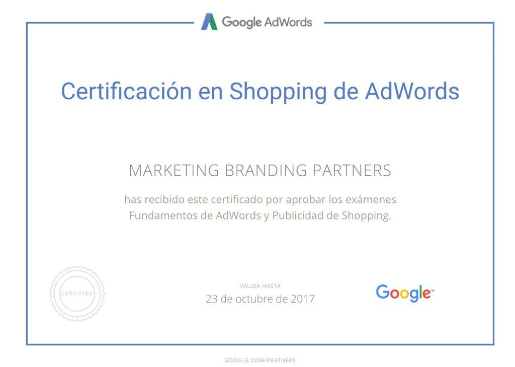 certificado google adwords, certificado google shopping