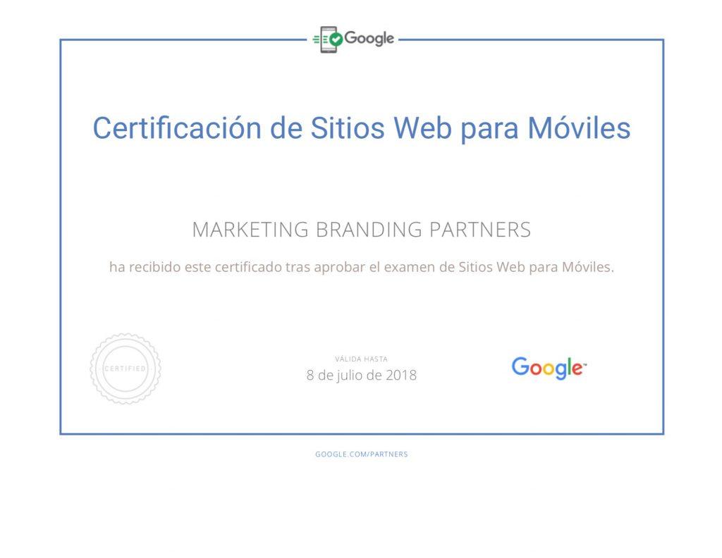 certificado google adwords, sitios web para moviles